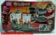 MEGA BLOKS Pirates of the Caribbean At World's End Flagship Battlers Giftset 1082